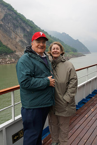 Bill Heiman and Ellen Linky Heiman on Yangtze River