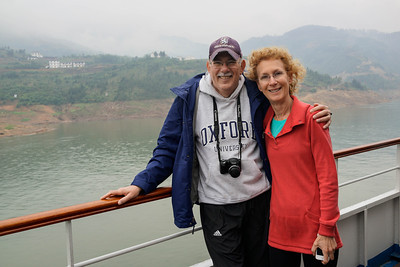 Wayne and Judy Lewis on Yangtze River