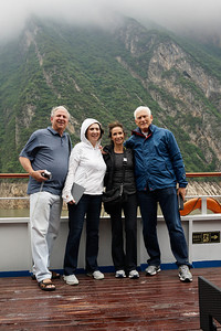 Steve and Pam Adelman, Elaine and Bruce Hochstadter on Yangtze River