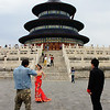 At most iconic cultural sites, we see wedding photographers.  The Temple of Heaven is no exception