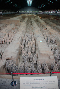 In the Terra Cotta warrior archiology site