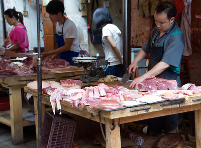 Local Butcher in Longsheng