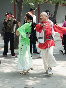 Folks like to come to Temple of Heaven park to hang out and have a good time.