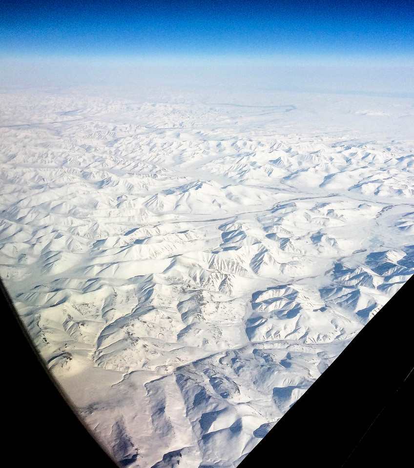 On the great-cirlce route over Russia