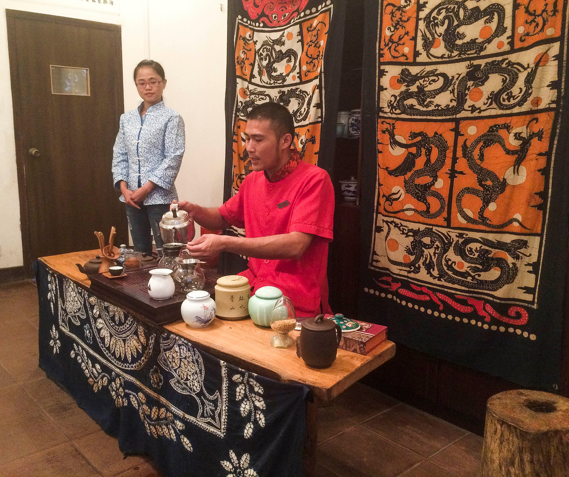 A Chinese tea ceremony