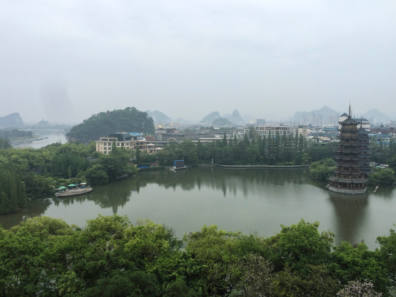 Last hotel window view, Guilin