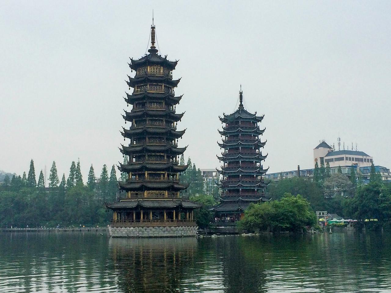 Dual pagodas