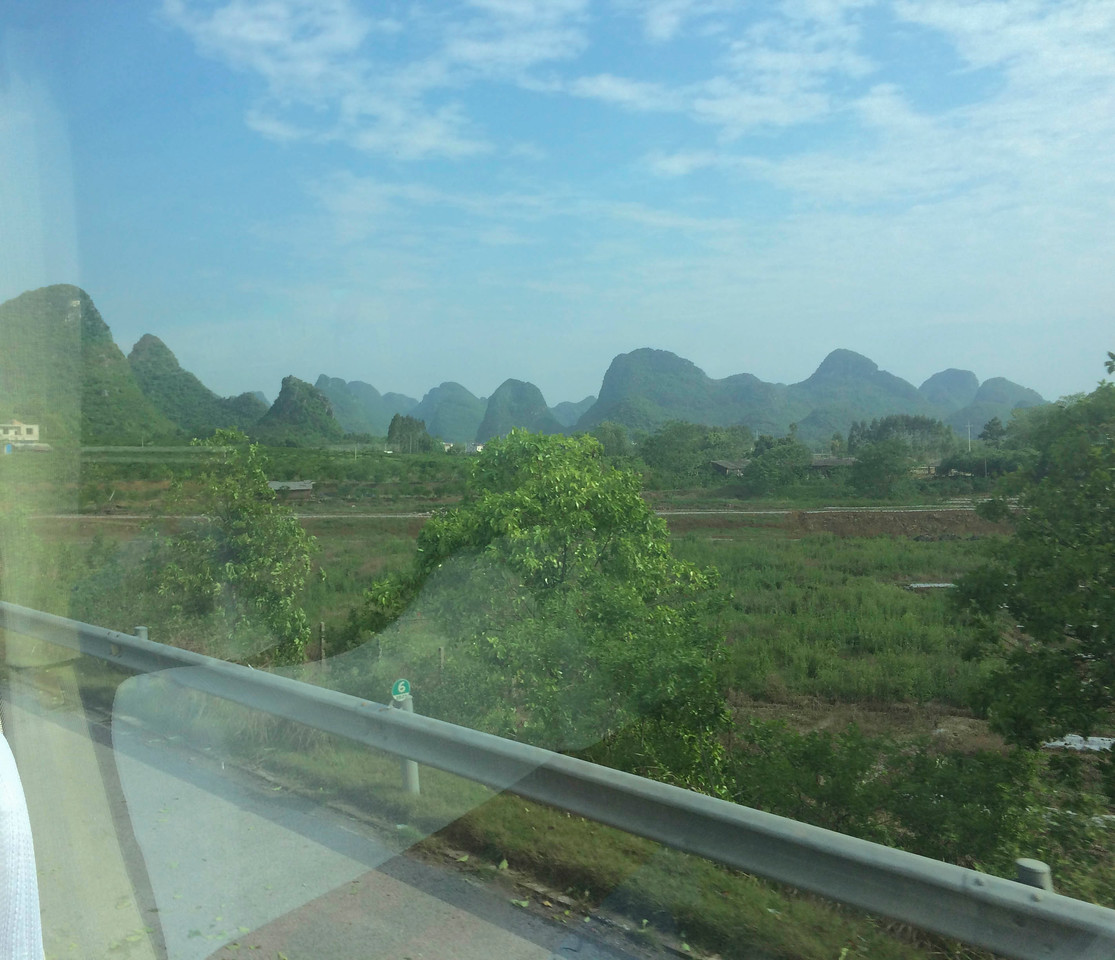 Typical Guilin scene from the bus