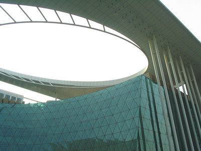 Cool new library in Nanjing.  Not yet opened.