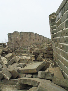 The Secret Wall is a section that is in it's original state.  No repairs.  No touts.  No tourists.