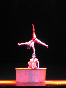 Acrobatics show is worth the inflated hostel price.
