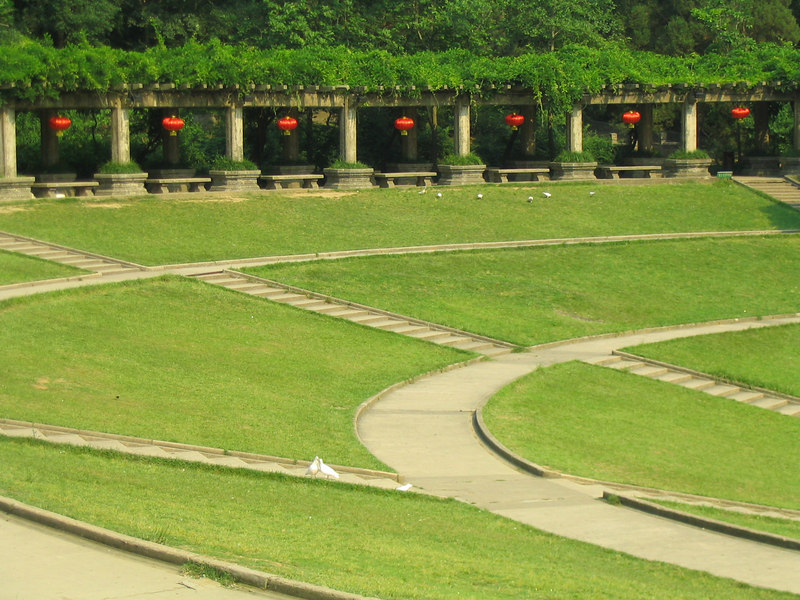 The amphiteather at the Sun Yatsen Memorial.