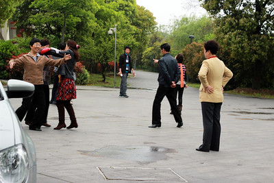 dancing in the park!