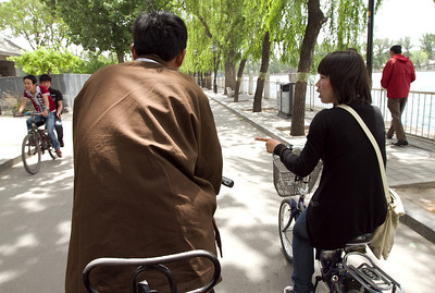 Beijing - Cycle Rickshaw tour around Hutongs, along with my guide who cycled alongside on her own bike.