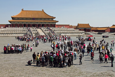 Beijing - Forbidden City - Courtyard outside the Hall of Supreme Harmony.