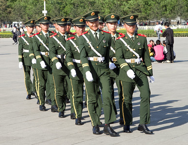 Beijing - Chinese guards marching in Tian'an Men Square.