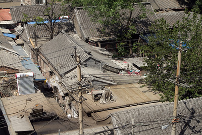 Beijing - View over old Hutongs and courtyard house.