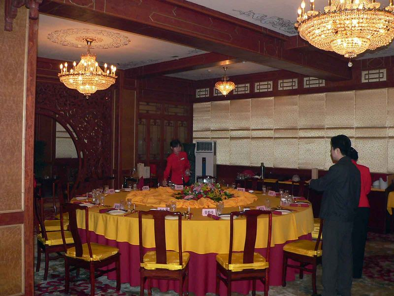 Formal Peking Duck dining room