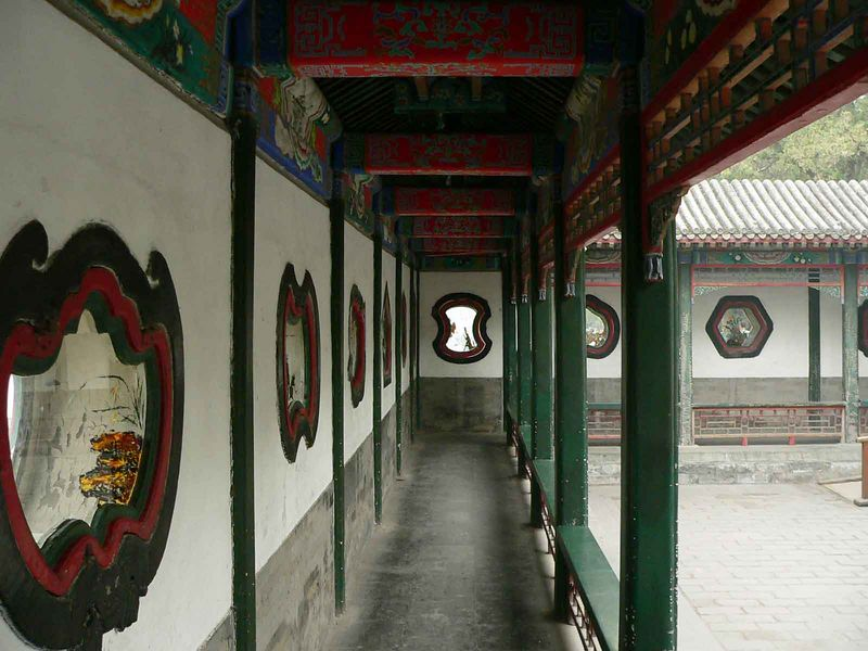 Windows in a walkway at the Summer Palace
