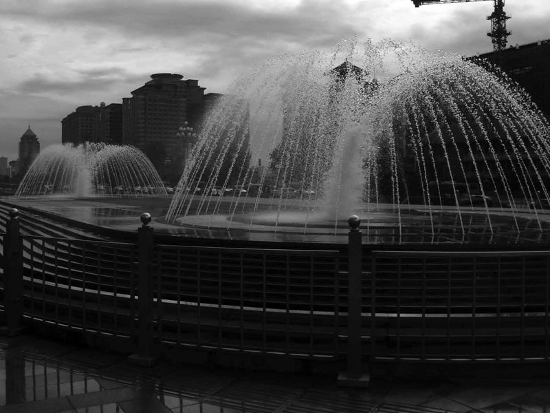A fountain in Beijing, thought I'd try B&W