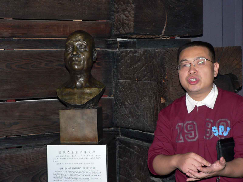 We thought the guide looked like the bust.