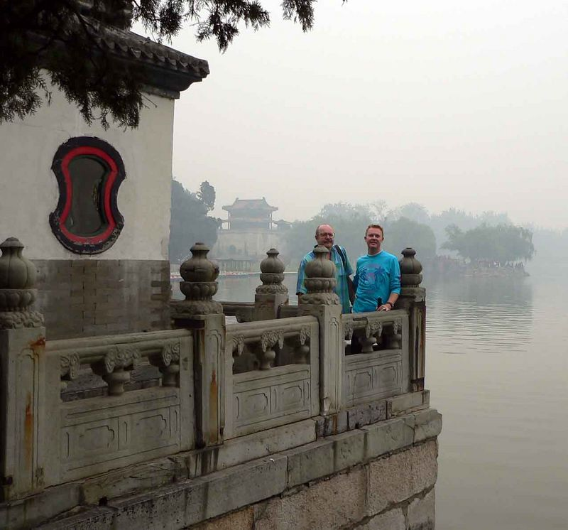 Allen & I at the Summer Palace. Too bad it was so hazy that day.