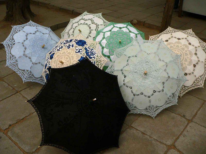 Selling ladies lace umbrellas