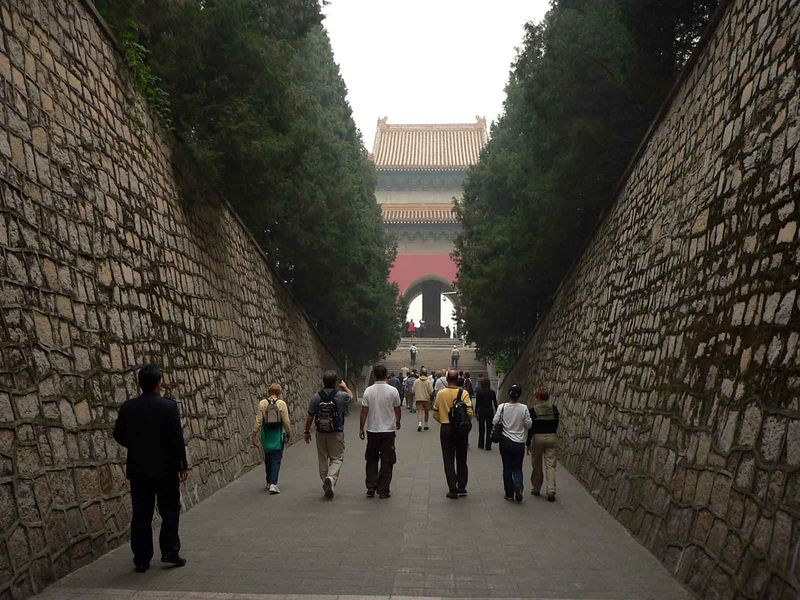Exiting the Ming Tombs