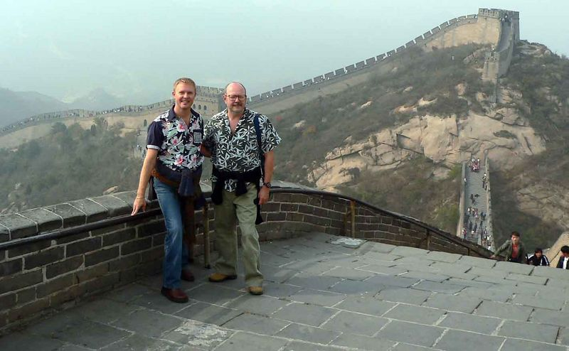 Me & Allen on the Great Wall of China at Badaling