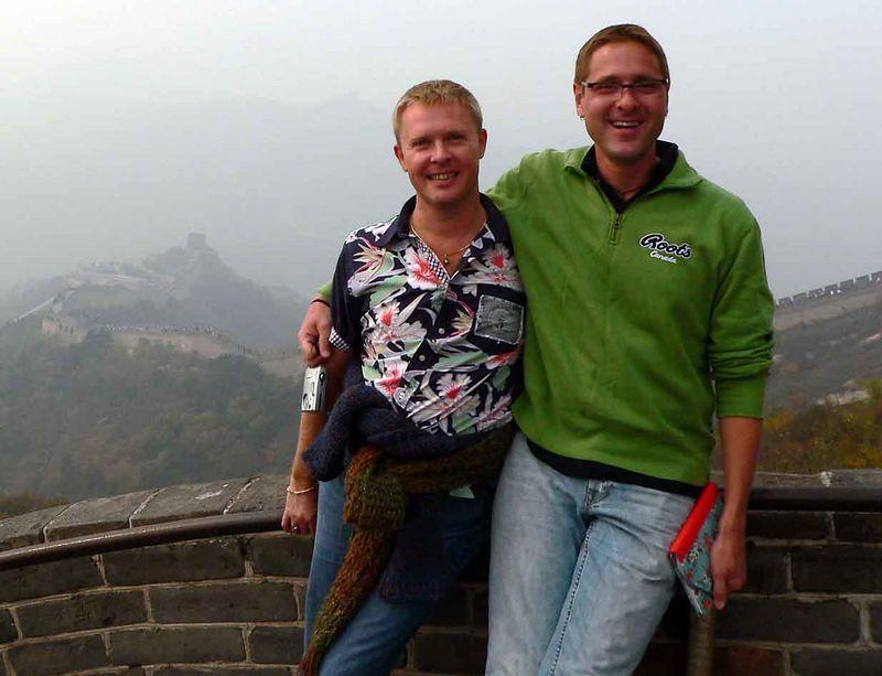 Me & Blaze on the Great Wall of China at Badaling