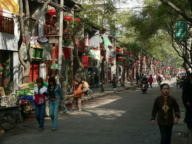 Shops in Muslim area of Xi'an China