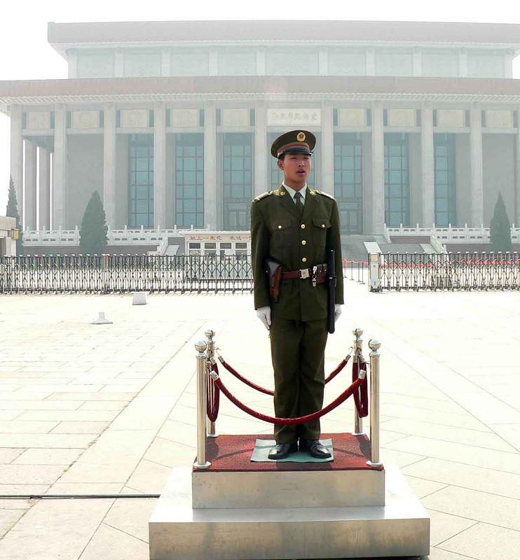 Guard at Mao's Tomb