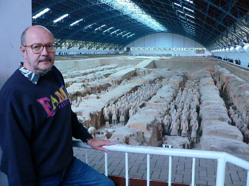Allen in front of the Terra Cotta Warriors, Xi'an China