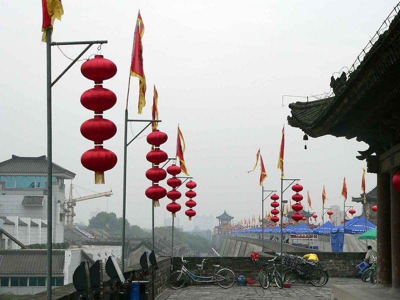 The wall surrounding Xi'an