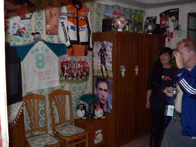 That's the lady of the house by Dennis. This is the other sons bedroom.
