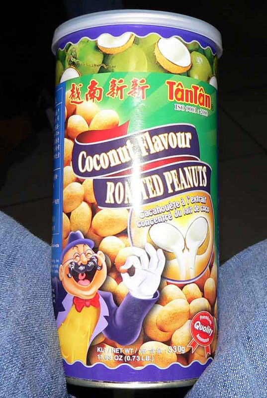 These were the BEST snack!! Kind of like when you get Thai food w/ a coconut peanut sauce. I have a feeling I'll never find these in the States.