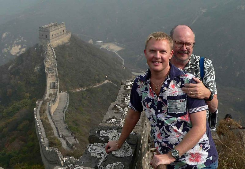 Allen & I on the Great Wall in China!
