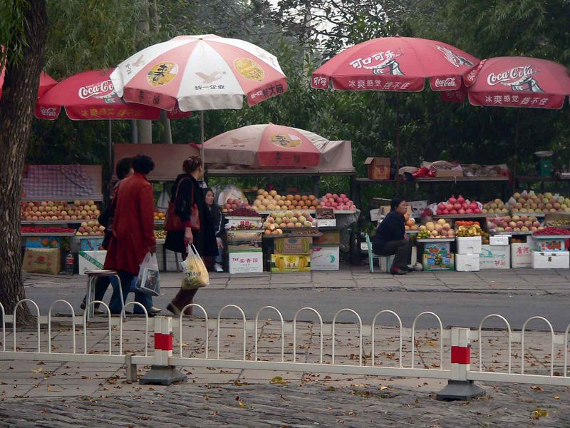 Fruit vendors outside Ming Tombs