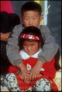 Brother and Sister in Fengjie, China