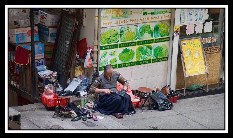 Shoe repairman...