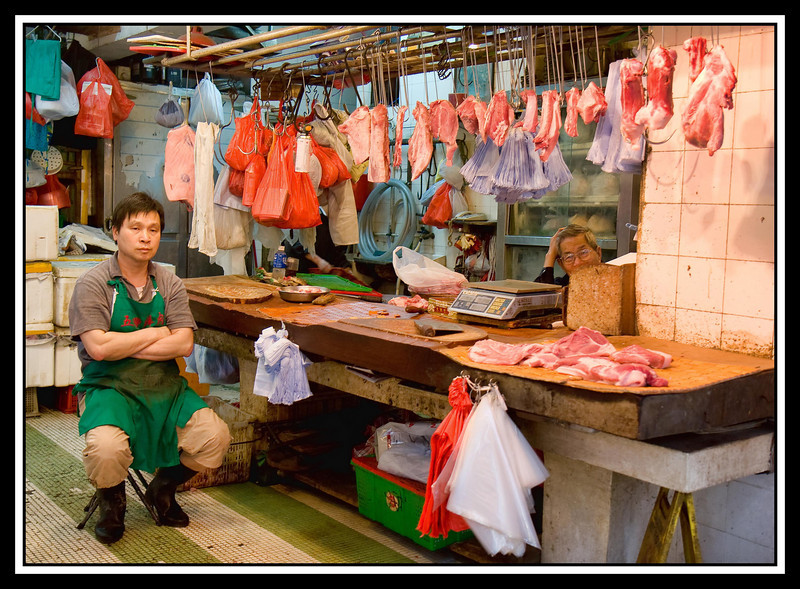 The butcher's stall...