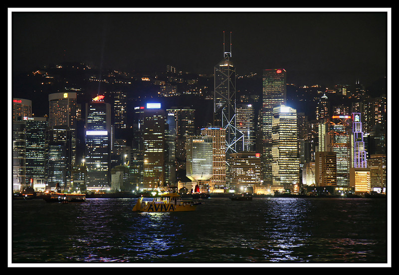 The skyline of Hong Kong from Kowloon Ferry Landing...