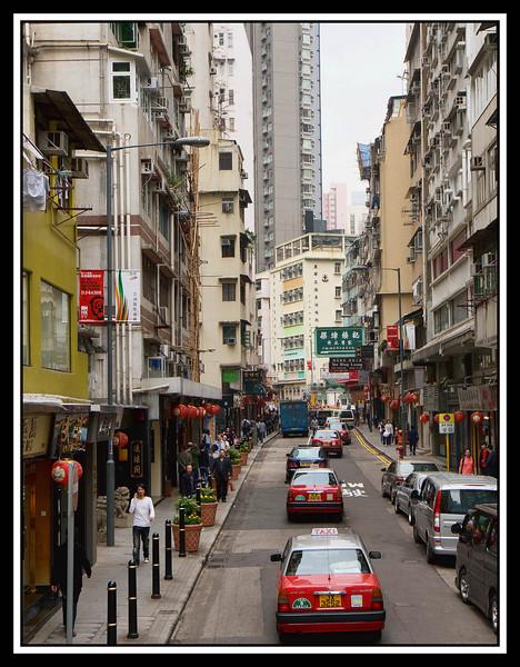 Narrow streets are like canyons...