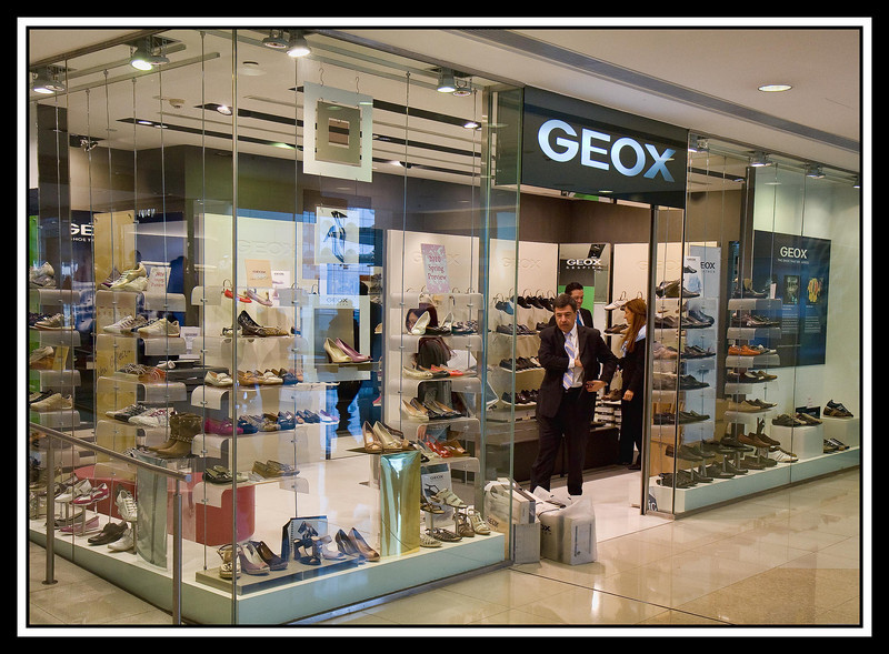 Modern shoe store...
