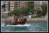 Water taxi heading for the Jumbo Floating Restaurant.