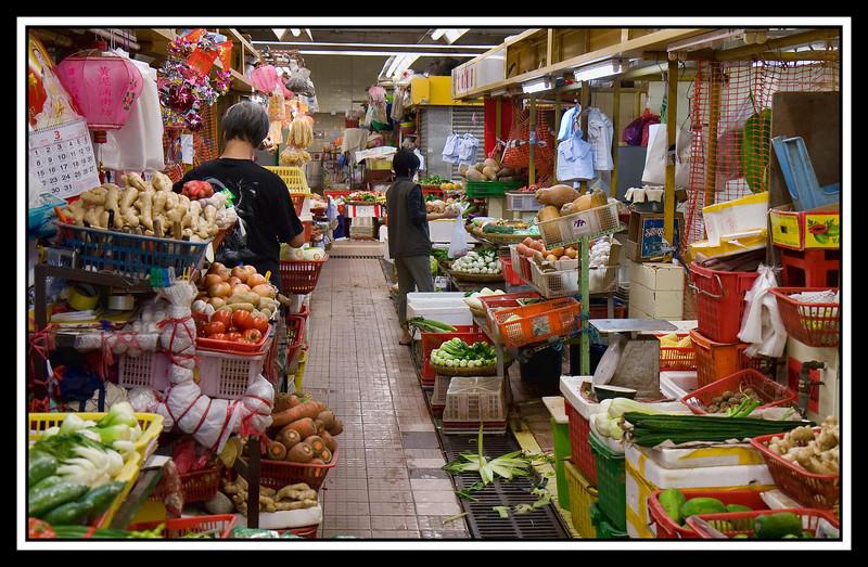 Vegetable stalls...