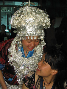 The bride and cousin Ming Mei (our guide).