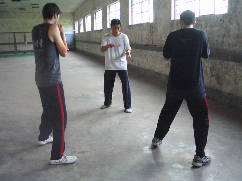 Boxing stance.