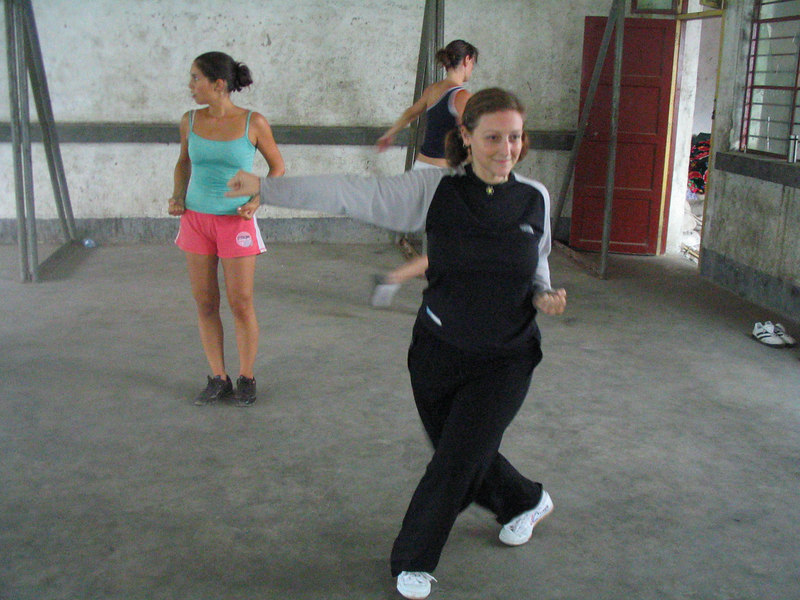 Practicing my 5 Stance Form (Wu Bu Quan)
