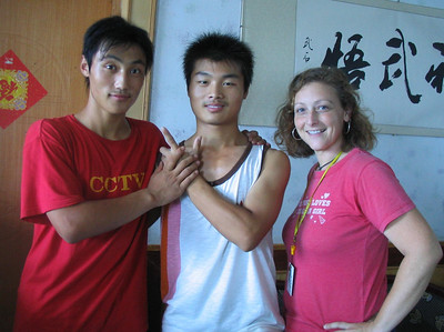 My coaches, Ji Tsong and Jon Ka, and me. It's an odd picture.  A little gender discomfort.